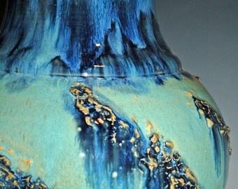 Large Ceramic Vase, Pottery Handmade, Blue and Green, Ceramics and Pottery Vase, Home Decor