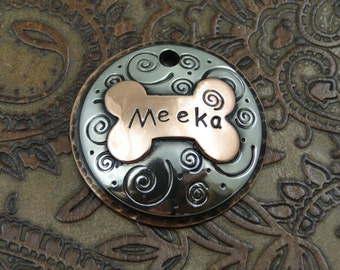 Personalized Pet Domed ID Tag-Spiral Dog Collar Tag-Custom Spiral Dog Tag for Dogs
