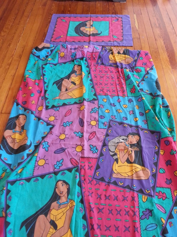 Pocahontas Twin Fitted Sheet Set Pillowcase Fabric By