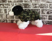 Dog sweater in camophlage, xs dog sweater, sm dog sweater, camo dog sweater, crochet dog sweater