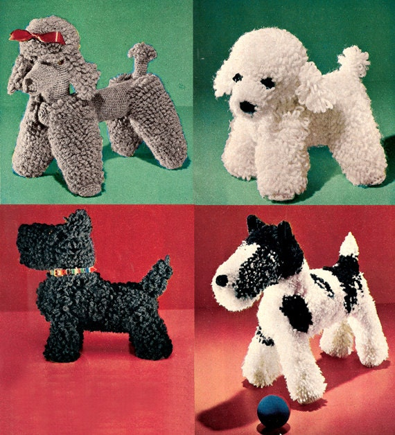 Crochet Dog Patterns from the 50s a Scottie Wirehair