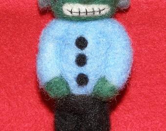Frankenstein's Monster Prim Style in Needle Felted Wool