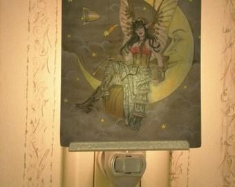 Steampunk Fairy Porcelain Tile Night Light
