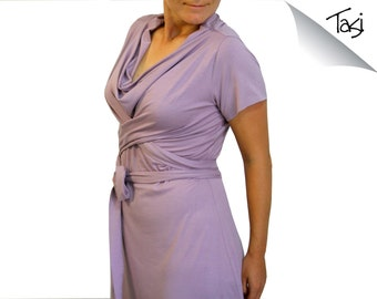 Plus Size Dress, Wrap Dress, Womens Dress, Day Dress, Womens clothing, Bridesmaid dress, Knee length or midi dress, Plus size clothing