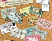 Coordinating Business Card Image - card, tool, original, unique, shabby, 3D, whimsical, graphic design, create, etsy shop, supply,