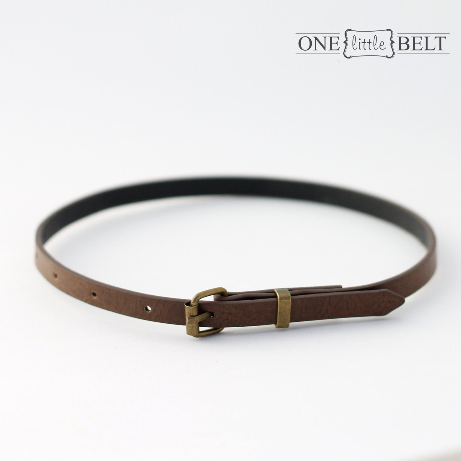 toddler s or baby s belt brown faux