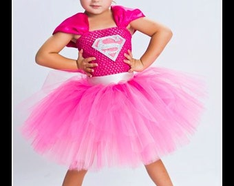 SMALLVILLE SWEETHEART Supergirl Inspired Tutu Dress - Small 12/18mos