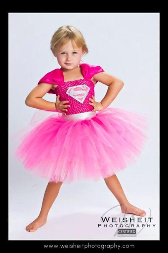 SMALLVILLE SWEETHEART Supergirl Inspired Tutu Dress - Small 12/18mos