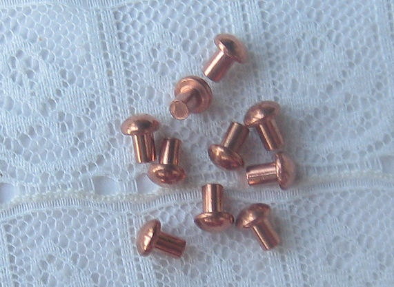 Small Copper Tubing Sizes: Copper Rivets For 3/32 Hole X 1/8 Length Round