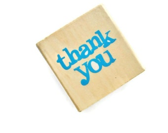 Small Thank You Rubber Stamp by Scrappy Cat NEW