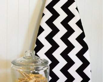 Designer Ironing Board Cover - Riley Blake Large Chevron Black