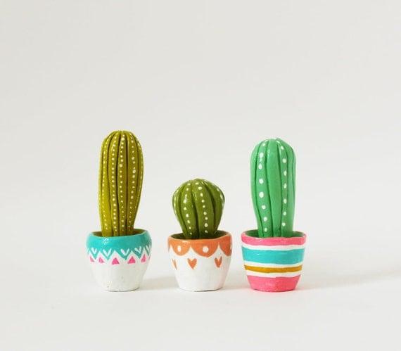 Cactus sculpture Gift for gardeners Hand sculpted miniature