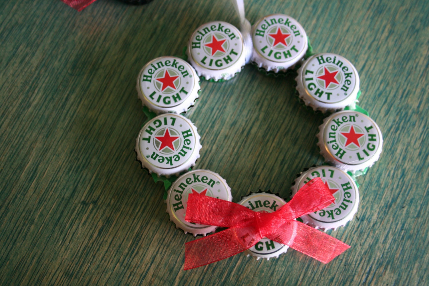 heineken light beer bottle cap christmas ornament