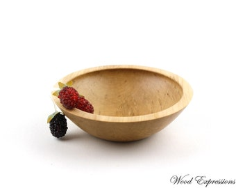 "Wooden Sweet Gum Bowl/ 6 1/2"" wooden dish"