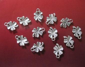 Four Leaf Clover Silver Charms