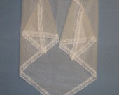 Ivory Fichu- Point d'Esprit Lace Shawl- 2 Sizes Available