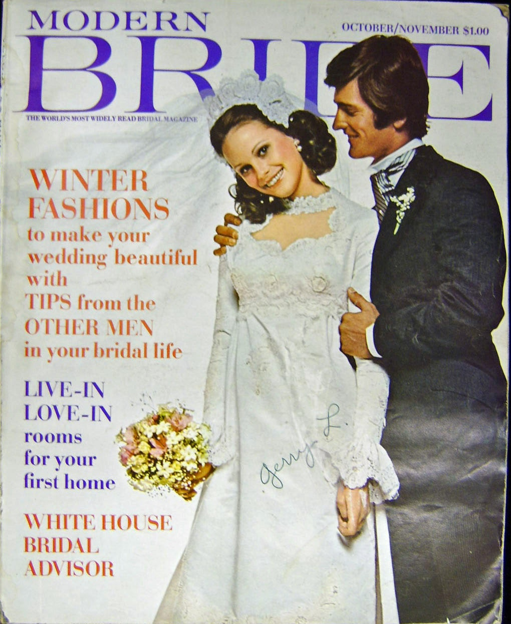 Modern Bride Magazine October November 1971 Gowns Bridal