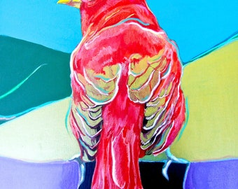 Summer Tanager 2 Print