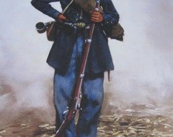 6th Wisconsin Iron Brigade Civil War Color Uniform Plate