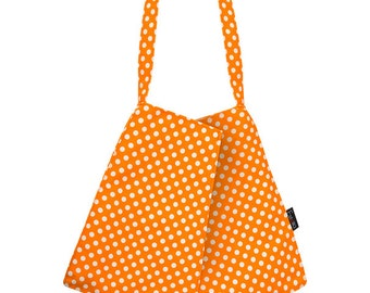 Women's bags | Vegan bag | Small bags | shoulder bag | ORANGE polka dots purse | evening purse | Small Origami | Estella |