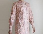 1960's floral mini dress m / l