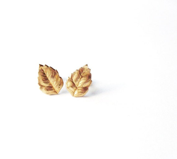 last pair tiny gold leaf stud earrings tiny gold leaf