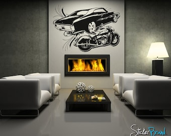 Vinyl Wall Decal Sticker Inspired Car and Motorcycle OSAA128B