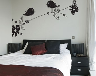 Vinyl Wall Decal Sticker Flowery Tree Branch 1017s