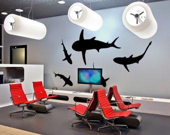 Vinyl Wall Decal Sticker Sharks OSMB631A