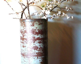 Vintage Extra Large Industrial Storage Bin, Planter or Vase