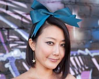 Blue Bow Headband - Harajuku