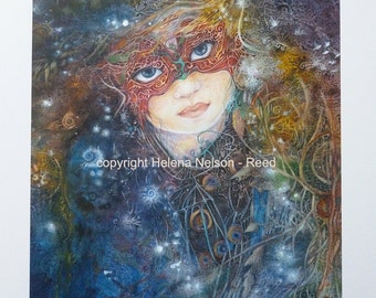 Mysterious Child signed giclee Helena NelsonReed art