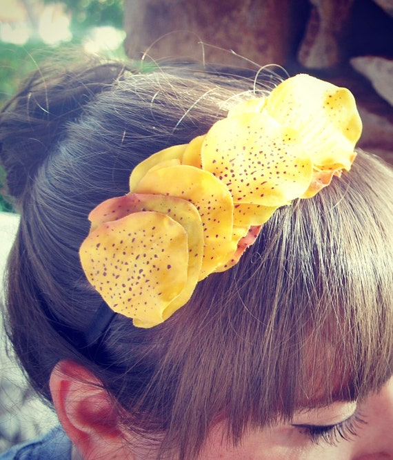 clearance orchid yellow flower headband for women and teens: taylor
