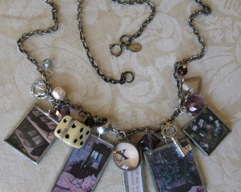 Charm Necklace with Soldered Charms Charmed Vintage Girlie Style NOT JUST ANOTHER...