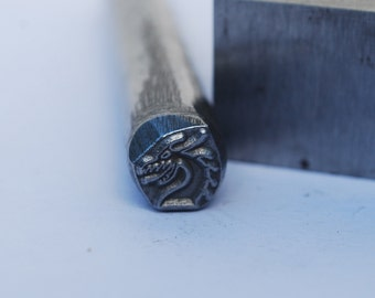 Dragon Head-Design Stamp- Metal Stamp LARGE-Exclusive To Me-New 3/8 in.-Metal Stamping Tool-Perfect for Metal Stamping and Metal Work