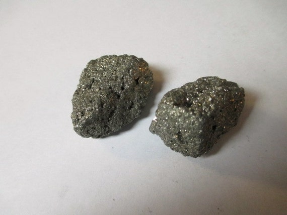 pyrite fools gold nuggets 2 small specimen rocks natural