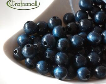 Wooden Beads - Denim Blue 12mm - 20 Beads