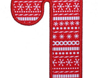 Candy Cane Applique - Machine Embroidery Design file  (062)