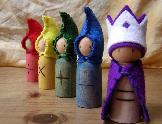Waldorf Math Gnomes, Mathematics, Math manipulatives, Waldorf Math, Gnomes, MADE TO ORDER