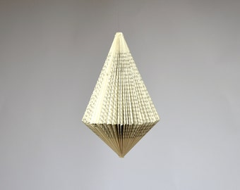 Pendulum - folded Book Art hanging Ornament