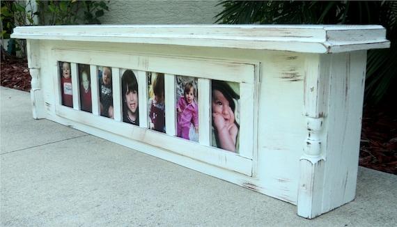Photo Display Shelf, Country Farmhouse Style Mantle, Entry Display, Headboard Or Window Cornice
