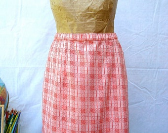 Red & White Retro Skirt *On Sale!