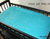 CUSTOM Solid Minky Changing Table Pad Cover for Your Nursery- Choose Your Minky Color - By Mommy Moxie on Etsy