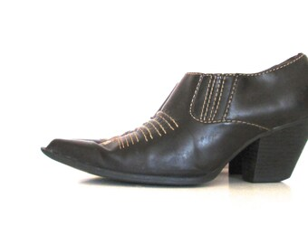 90's Western Ankle Bootie size - 8 - Vegan