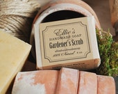 Gardeners Scrub Soap - 100% Natural, Cold Process, Vegan, Olive Oil Handmade Soap
