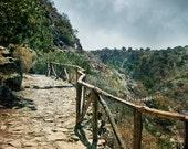 Dramatic Canyon Landscape Photograph, Woodland Photo Art Print, Large wall art