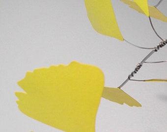 Golden Gingko Leaves Mobile Large
