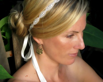 Caitline  Rhinestone bridal headband, wedding headband, wedding hair accessories, crystal headband