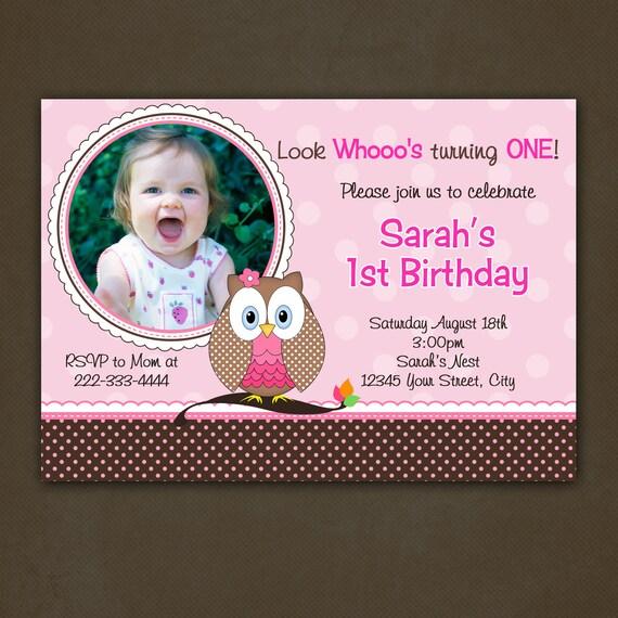 Vistaprint Owl Invitations