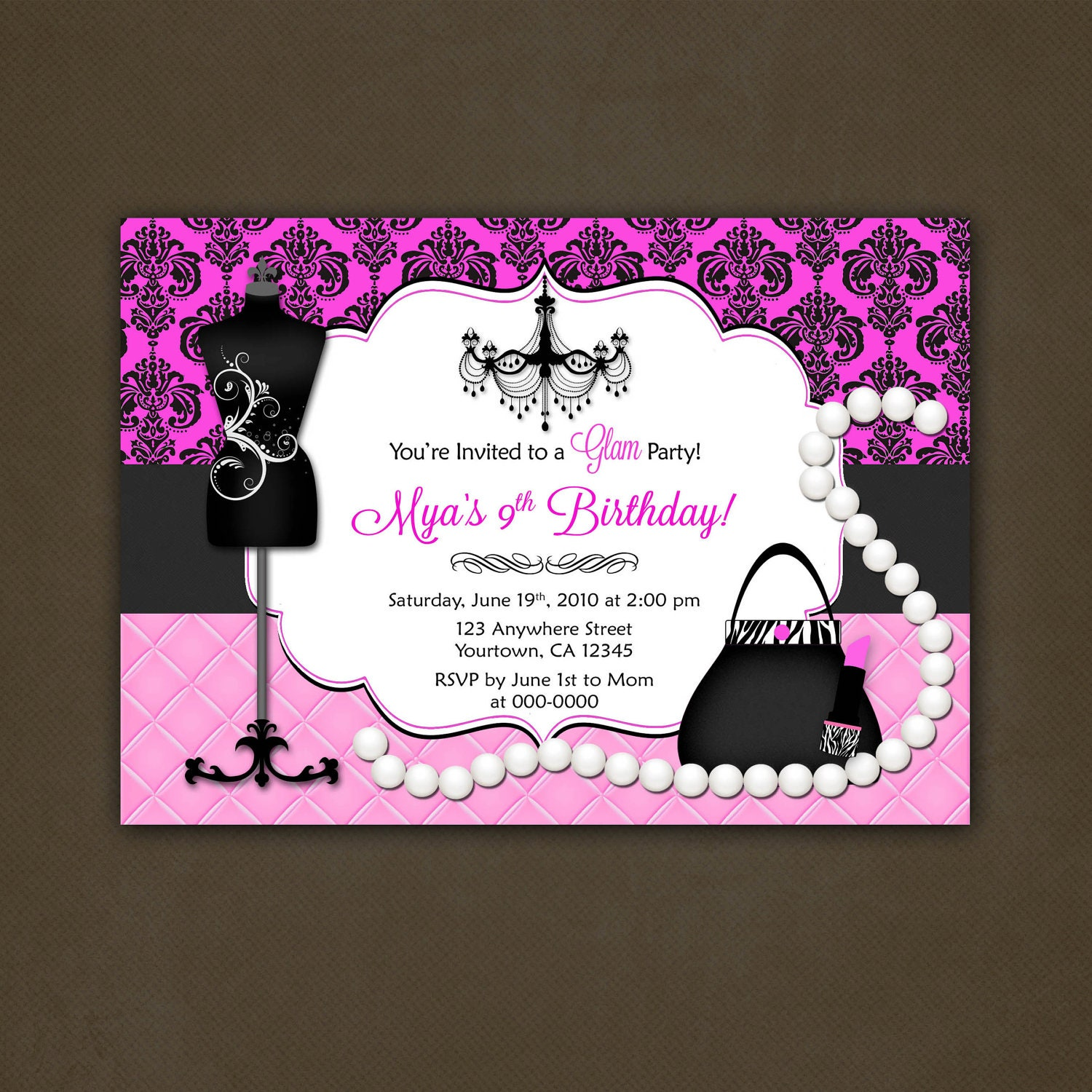 جميل Teen birthday invitations hot